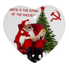 Karl Marx Santa  Heart Ornament (two Sides)