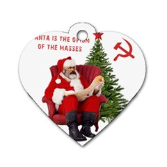 Karl Marx Santa  Dog Tag Heart (two Sides)