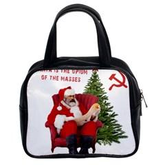 Karl Marx Santa  Classic Handbags (2 Sides)