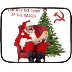 Karl Marx Santa  Double Sided Fleece Blanket (mini)
