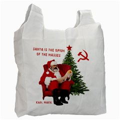 Karl Marx Santa  Recycle Bag (two Side)