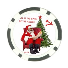 Karl Marx Santa  Poker Chip Card Guard (10 Pack)