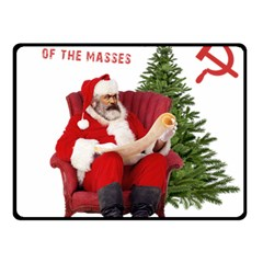 Karl Marx Santa  Fleece Blanket (small)