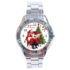 Karl Marx Santa  Stainless Steel Analogue Watch