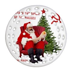 Karl Marx Santa  Round Filigree Ornament (two Sides)