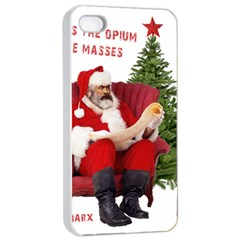Karl Marx Santa  Apple Iphone 4/4s Seamless Case (white)