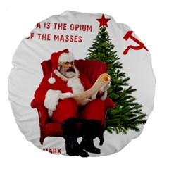 Karl Marx Santa  Large 18  Premium Round Cushions