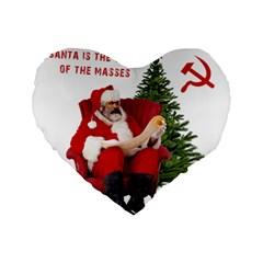 Karl Marx Santa  Standard 16  Premium Heart Shape Cushions