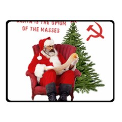 Karl Marx Santa  Double Sided Fleece Blanket (small)
