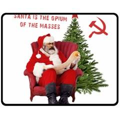 Karl Marx Santa  Double Sided Fleece Blanket (medium)