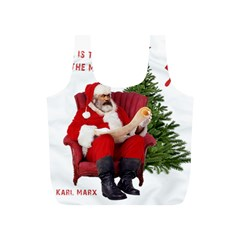 Karl Marx Santa  Full Print Recycle Bags (s)