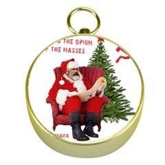 Karl Marx Santa  Gold Compasses