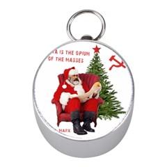 Karl Marx Santa  Mini Silver Compasses