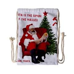 Karl Marx Santa  Drawstring Bag (small)
