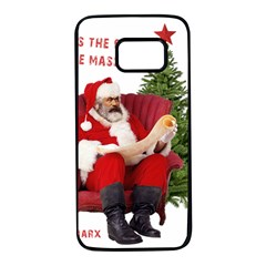 Karl Marx Santa  Samsung Galaxy S7 Black Seamless Case