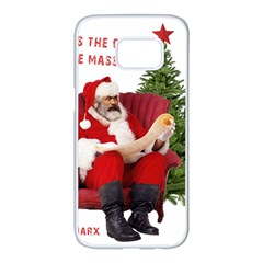Karl Marx Santa  Samsung Galaxy S7 Edge White Seamless Case