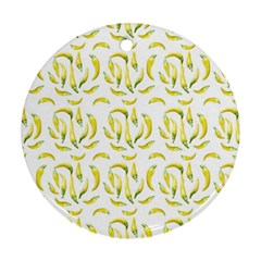 Chilli Pepers Pattern Motif Ornament (round)