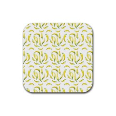 Chilli Pepers Pattern Motif Rubber Square Coaster (4 Pack)