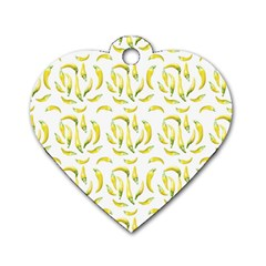 Chilli Pepers Pattern Motif Dog Tag Heart (one Side)