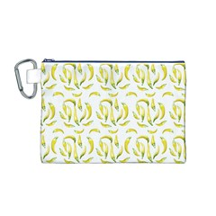 Chilli Pepers Pattern Motif Canvas Cosmetic Bag (m)