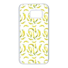 Chilli Pepers Pattern Motif Samsung Galaxy S7 White Seamless Case