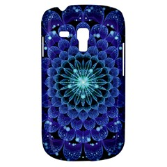 Accordant Electric Blue Fractal Flower Mandala Galaxy S3 Mini