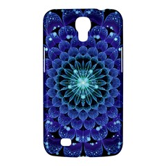 Accordant Electric Blue Fractal Flower Mandala Samsung Galaxy Mega 6 3  I9200 Hardshell Case