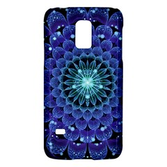 Accordant Electric Blue Fractal Flower Mandala Galaxy S5 Mini