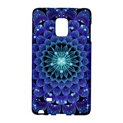 Accordant Electric Blue Fractal Flower Mandala Galaxy Note Edge