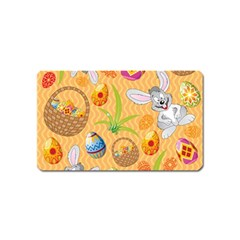 Easter Bunny And Egg Basket Magnet (name Card)
