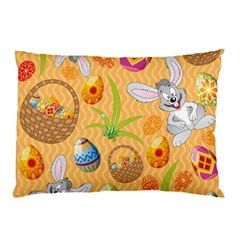 Easter Bunny And Egg Basket Pillow Case