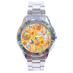 Easter Bunny And Egg Basket Stainless Steel Analogue Watch