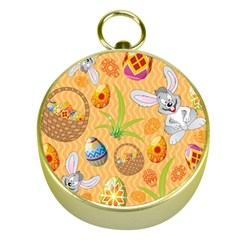 Easter Bunny And Egg Basket Gold Compasses