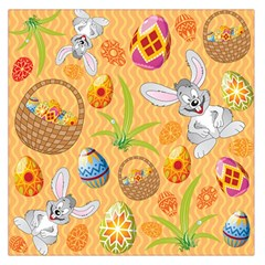 Easter Bunny And Egg Basket Large Satin Scarf (square)
