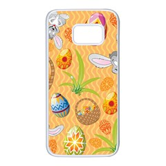 Easter Bunny And Egg Basket Samsung Galaxy S7 White Seamless Case
