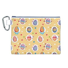 Fun Easter Eggs Canvas Cosmetic Bag (l)