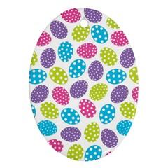 Polka Dot Easter Eggs Ornament (oval)