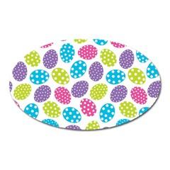 Polka Dot Easter Eggs Oval Magnet