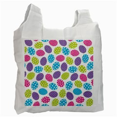 Polka Dot Easter Eggs Recycle Bag (two Side)