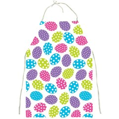 Polka Dot Easter Eggs Full Print Aprons