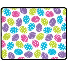 Polka Dot Easter Eggs Double Sided Fleece Blanket (medium)