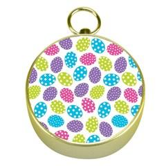 Polka Dot Easter Eggs Gold Compasses