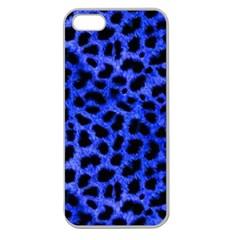 Blue Cheetah Print  Apple Seamless Iphone 5 Case (clear)