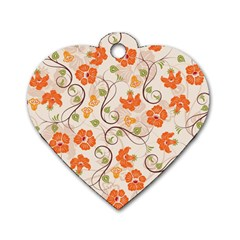Honeysuckle Delight Dog Tag Heart (one Side)