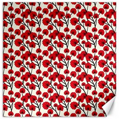 Red Flowers Canvas 12  X 12
