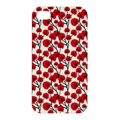 Red Flowers Apple Iphone 4/4s Premium Hardshell Case