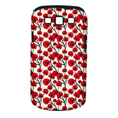 Red Flowers Samsung Galaxy S Iii Classic Hardshell Case (pc+silicone)