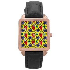 Spring Love Rose Gold Leather Watch