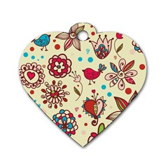Spring Time Fun Dog Tag Heart (one Side)