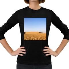 Desert Dunes With Blue Sky Women s Long Sleeve Dark T Shirts